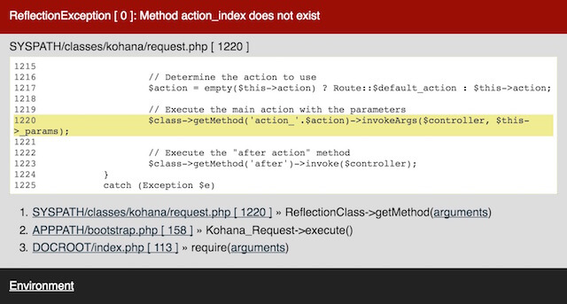 Controller not found error