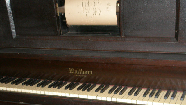 Vintage player piano