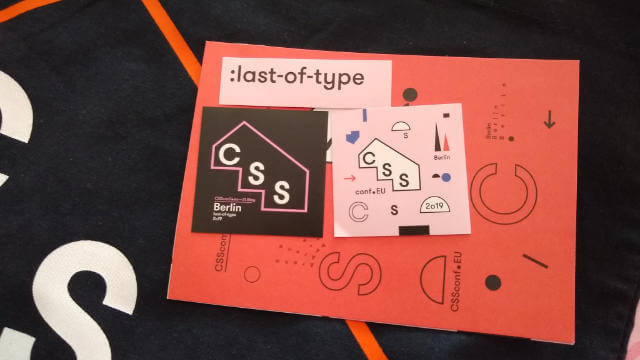 CSSConf EU 2019, last-of-type
