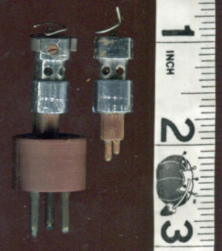 Earliest point contact transistors