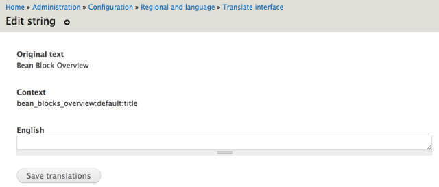 Translate a string
