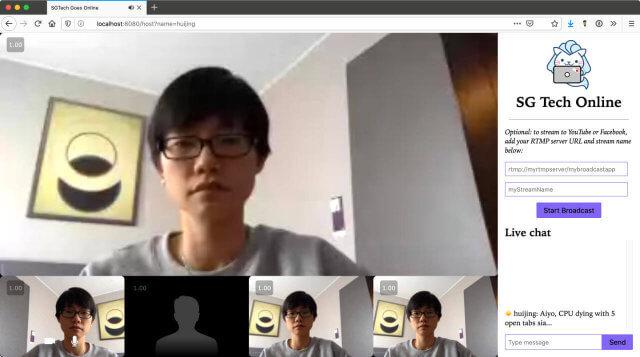 Screenshot of SGTechOnline