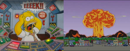 Nuclear disaster (Simpsons-style)