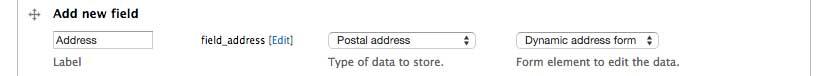 Create address field
