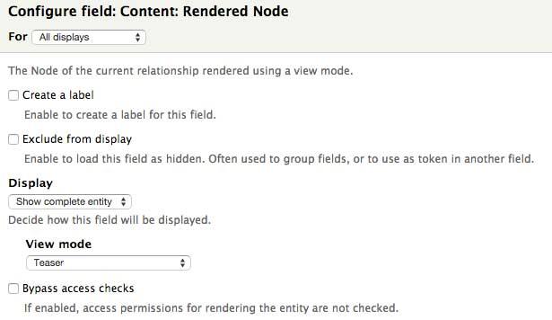 Add rendered node field