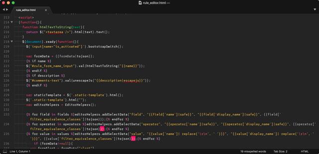 Mish-mash of HTML, CSS, Javascript and Jinja variables