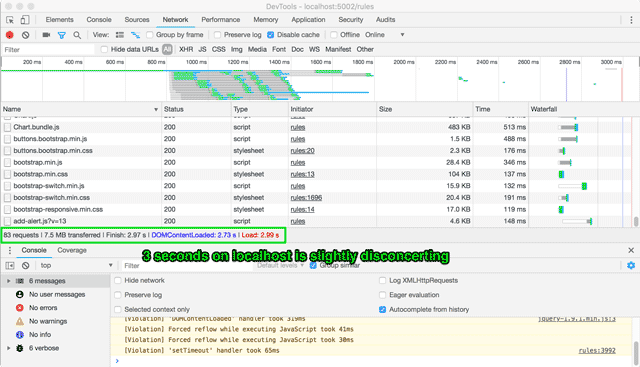 Chrome's network tab