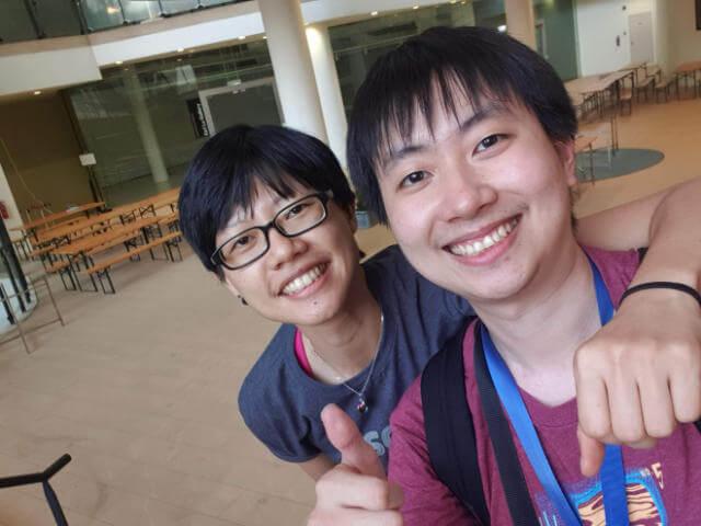 Myself and Thai Pangsakulyanont at JSConf.Asia 2019