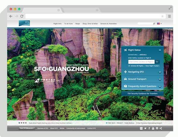 flysfo.com homepage