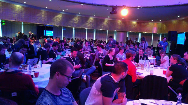 Captivated audience at Web Directions Code