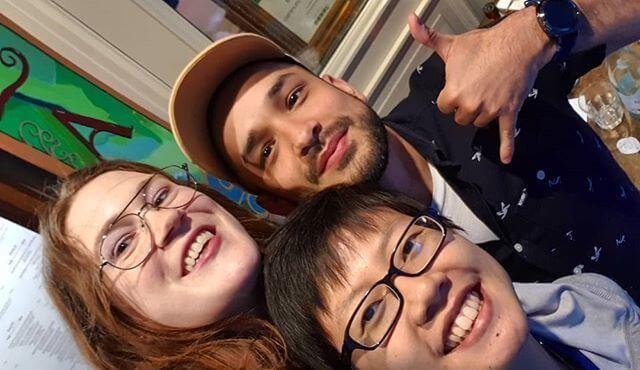 Rachel, Diego and I