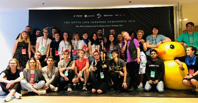 Group photo with speakers and organisers after YGLF Kyiv