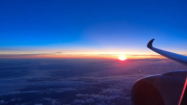 Sunrise from the plane