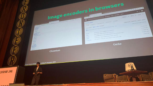 On stage at Fronteers