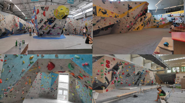 4 climbing gyms in 4 cities