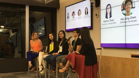 Panel at inaugural TechLadies launch event