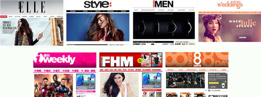 Magazine sites