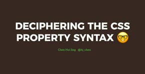 Deciphering the CSS property syntax
