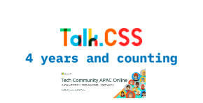 Talk.CSS, 4 years and counting