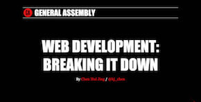 Web development: breaking it down